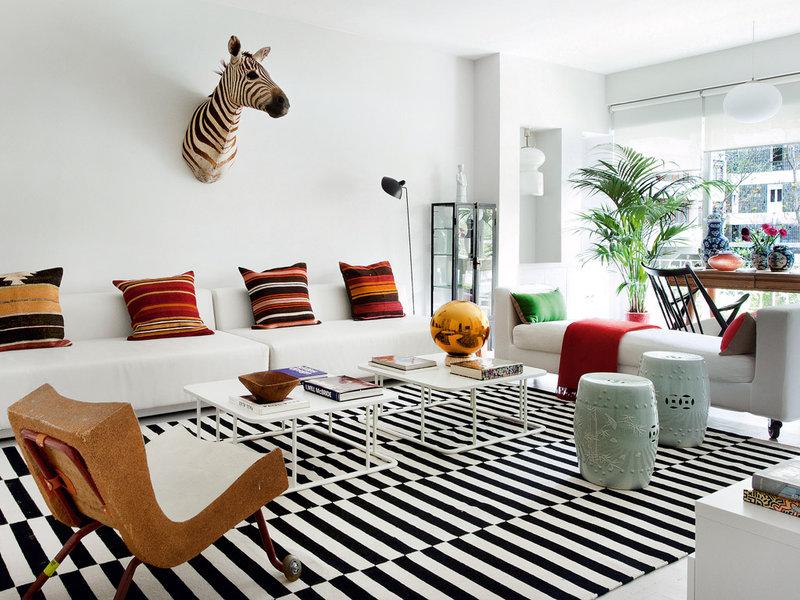 1 9 - Precioso piso en Madrid lleno de color, luz y alegre diseño contemporáneo