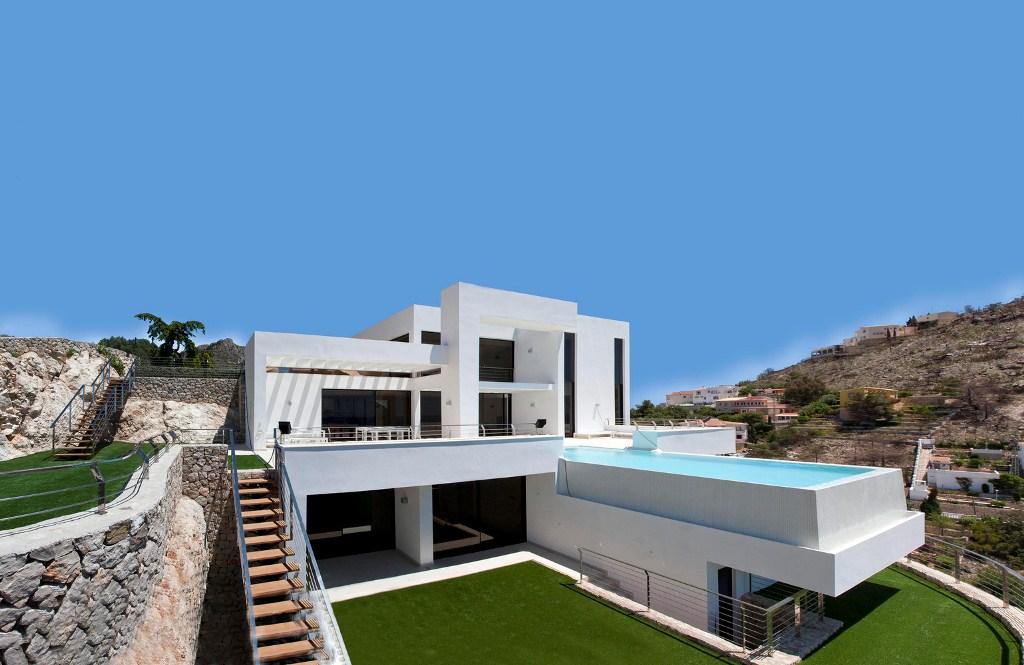 "1 a 1024 - ""La perla del Mediterráneo"": Diseño blanco sobre el mar en Morro de Toix, Altea (Costa Blanca)"