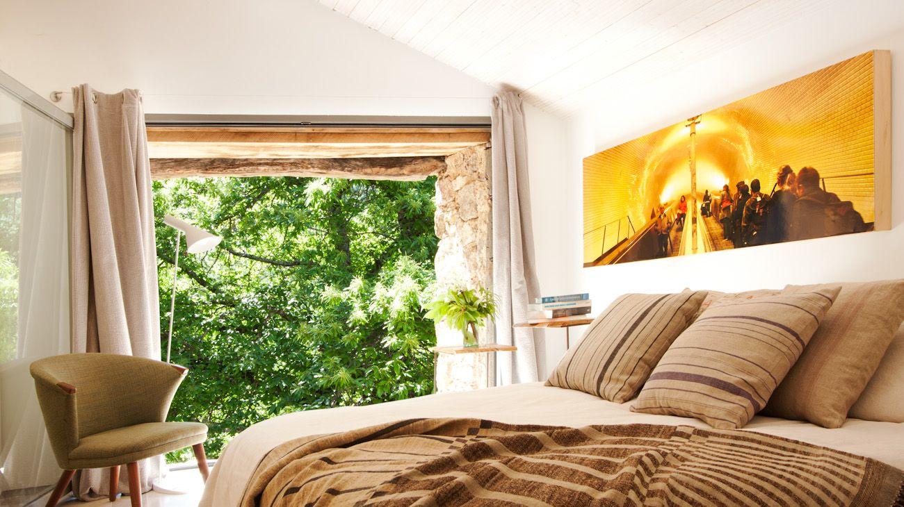 10 dormitorio - De antiguo establo rural a fantástica casa rústica en Cáceres: un remanso de paz y naturaleza