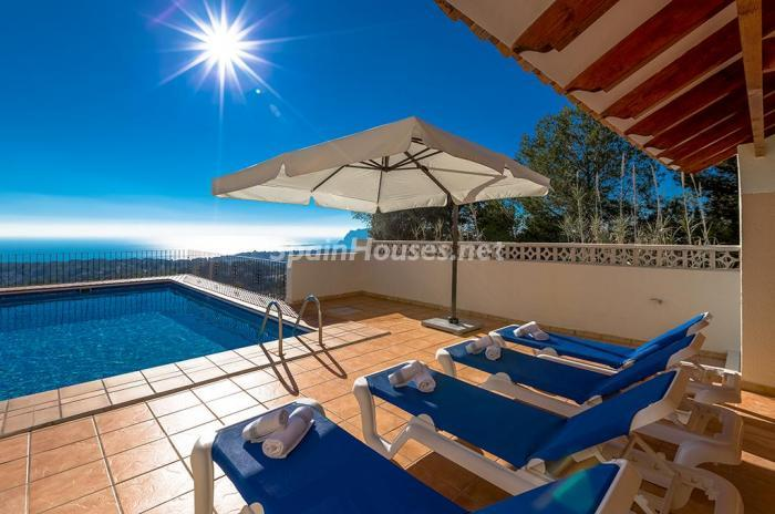 126 - Genial villa en alquiler de vacaciones en Benissa (Costa Blanca): valle, montaña y mar