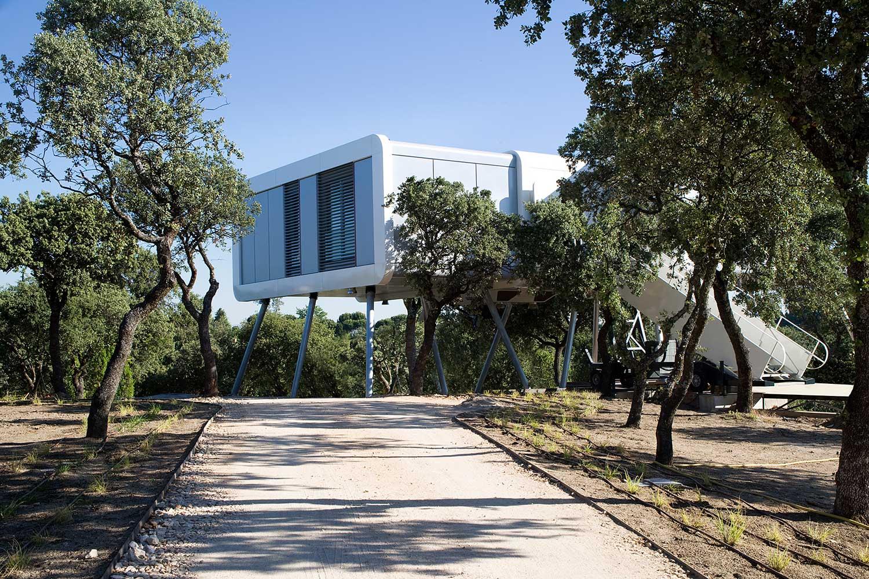 2 20 - Casa futurista o bella nave espacial para vivir en La Moraleja (Alcobendas, Madrid)