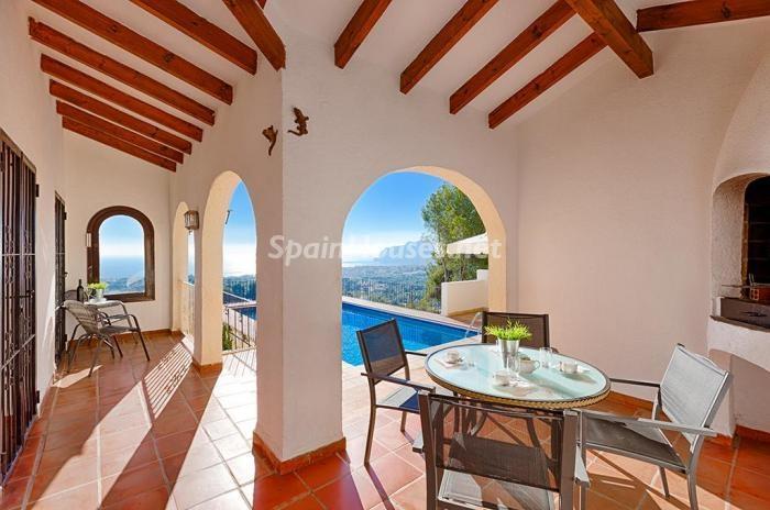 212 - Genial villa en alquiler de vacaciones en Benissa (Costa Blanca): valle, montaña y mar
