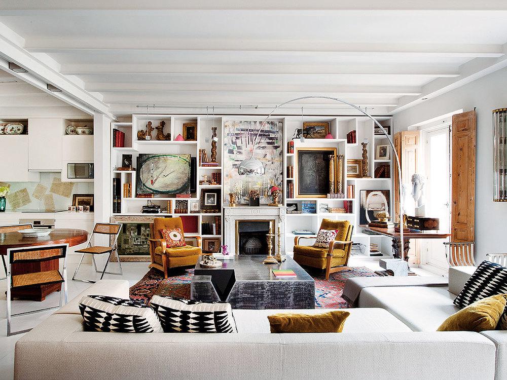 221 - Precioso piso reformado en Madrid: toque ecléctico lleno de luz, arte y decoración
