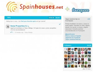 25 julio FourSquare 300x233 - SpainHouses.net se una a la red FourSquare