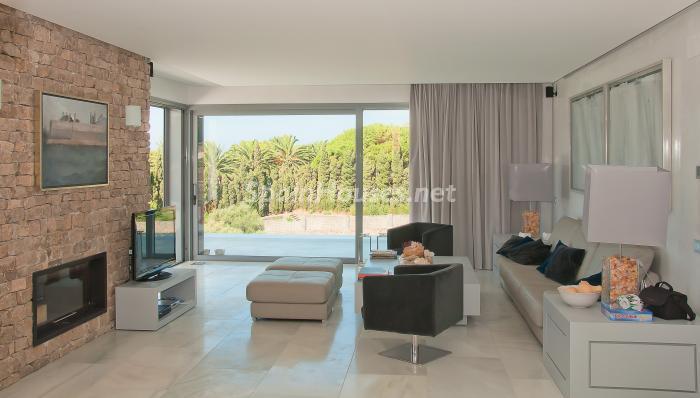 3 Salón - Naturaleza y mar en una fantástica villa en Zahara de los Atunes (Costa de la Luz, Cádiz)
