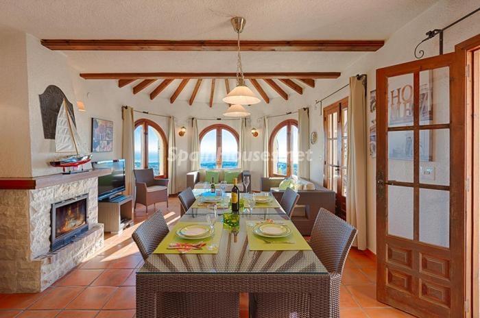 312 - Genial villa en alquiler de vacaciones en Benissa (Costa Blanca): valle, montaña y mar