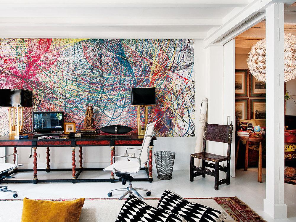 321 - Precioso piso reformado en Madrid: toque ecléctico lleno de luz, arte y decoración