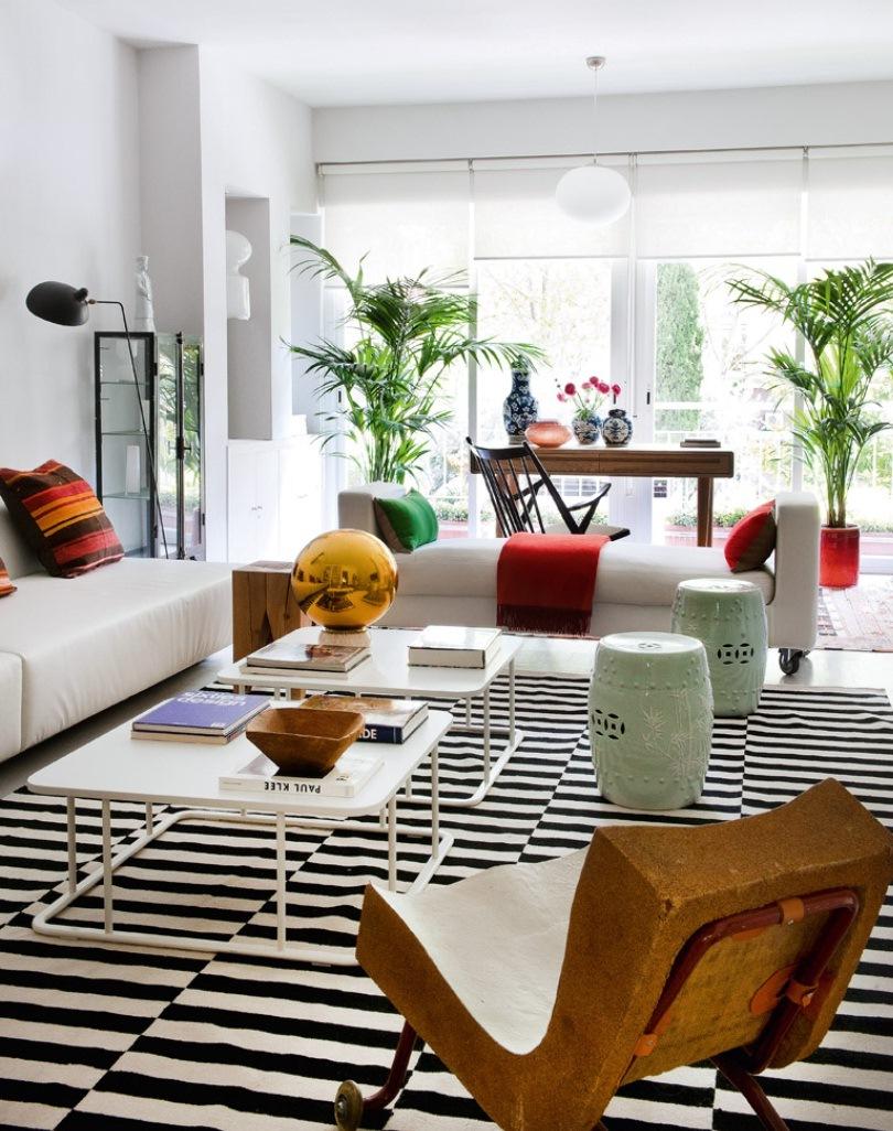 4 10 - Precioso piso en Madrid lleno de color, luz y alegre diseño contemporáneo