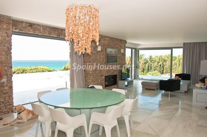 4 Salón 2 - Naturaleza y mar en una fantástica villa en Zahara de los Atunes (Costa de la Luz, Cádiz)