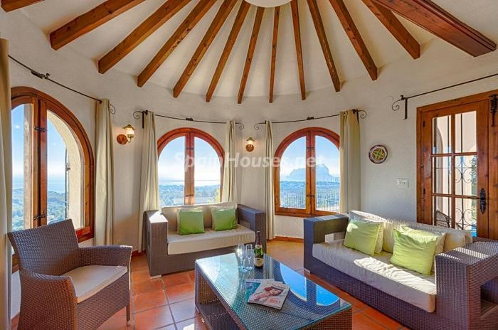 410 - Genial villa en alquiler de vacaciones en Benissa (Costa Blanca): valle, montaña y mar