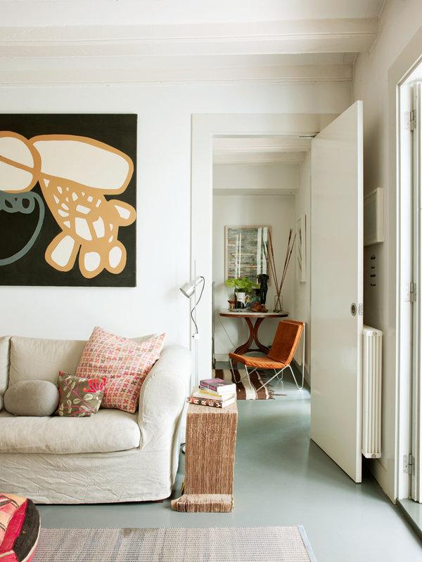 521 - Toque cosmopolita y un patio interior encantador en un piso en el Gòtic de Barcelona