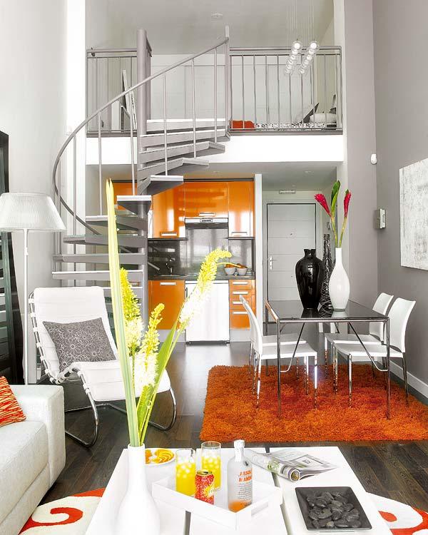 530 - Espacios Pequeños: Loft en Móstoles (Madrid) con un precioso toque de calidez, color y diseño