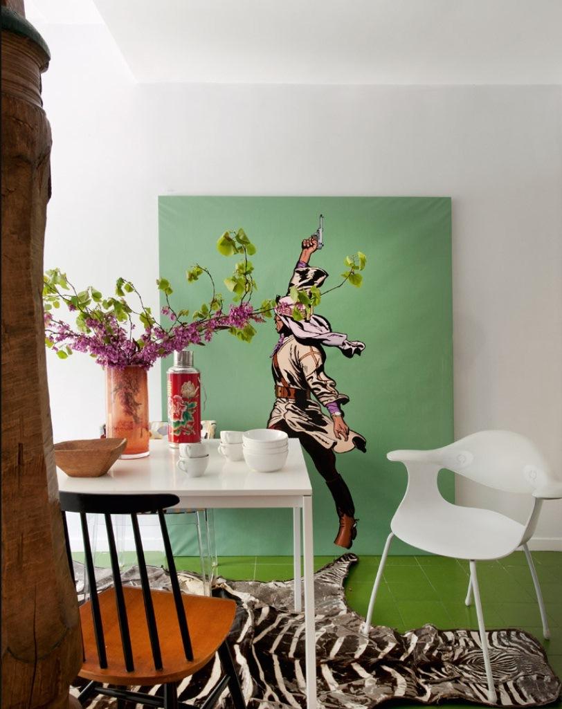 6 10 - Precioso piso en Madrid lleno de color, luz y alegre diseño contemporáneo