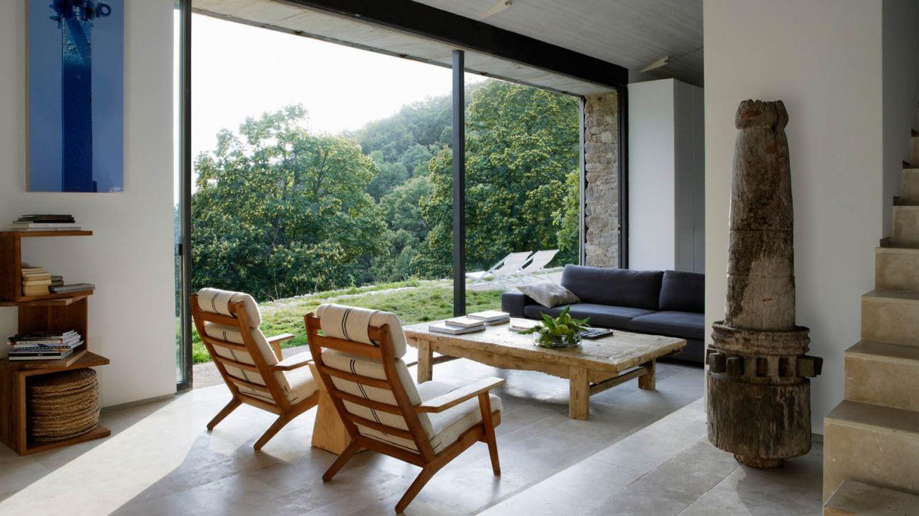 6 salon - De antiguo establo rural a fantástica casa rústica en Cáceres: un remanso de paz y naturaleza