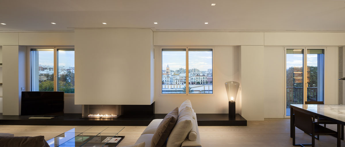 630 - Fantástico y moderno ático en Sevilla de elegante y cálido diseño minimalista