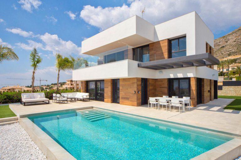 Descubre esta pequeña villa de estructura moderna y diseño lujoso en Finestrat, Alicante