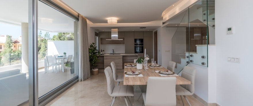 B3 Botanic livingroom July2019 - Últimos apartamentos de 3 dormitorios con amplias terrazas en Benahavís (Málaga). Listos para vivir.