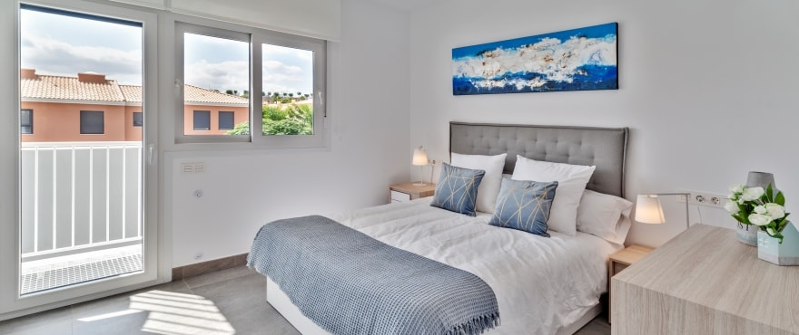 B8 Kiruna Residencial Alenda Golf  bedroom Sept 2019 - Nuevos adosados en venta en Alenda Golf (Alicante) desde 173.000€. La mejor oferta/calidad de la zona