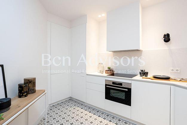 COCINA BARCELONA - Este piso en venta en Barcelona con elementos de diseño únicos te enamorará