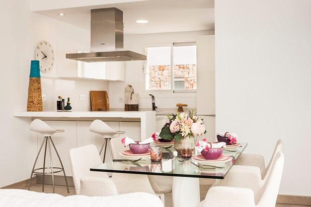 COMEDOR COCINA MALLORCA - Personaliza tu nuevo hogar: Villas de lujo en Mallorca de nueva construcción