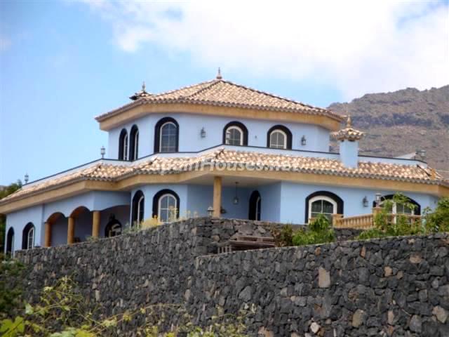 Bonita casa azul en Tenerife