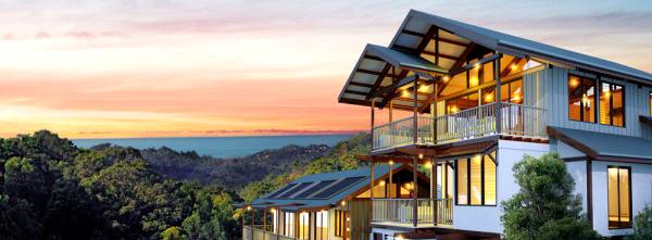 Casa sostenible con energías renovables