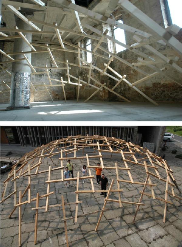 Decay of Dome decadencia de las cúpulas para la 12 Exposición Bienal de Arquitectura en Venecia - Recorrido por la arquitectura del Pritzker Wang Shu
