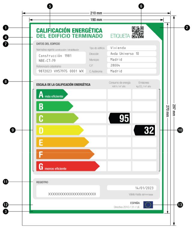 Etiqueta de Calificación Energética de Viviedas