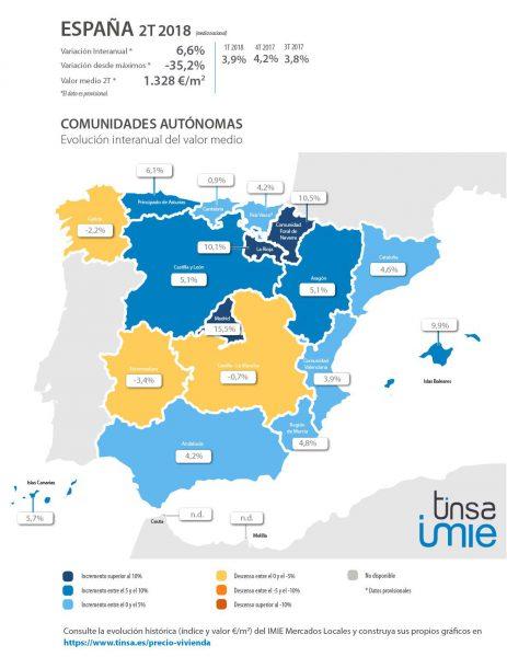 MAPA CCAA 463x600 - El precio de la vivienda en Madrid se dispara en un 20%