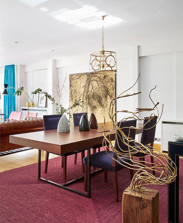 Melian Randolph Comedor 2 - Precioso piso con intensos toques de estilo y color en Chamartín, Madrid