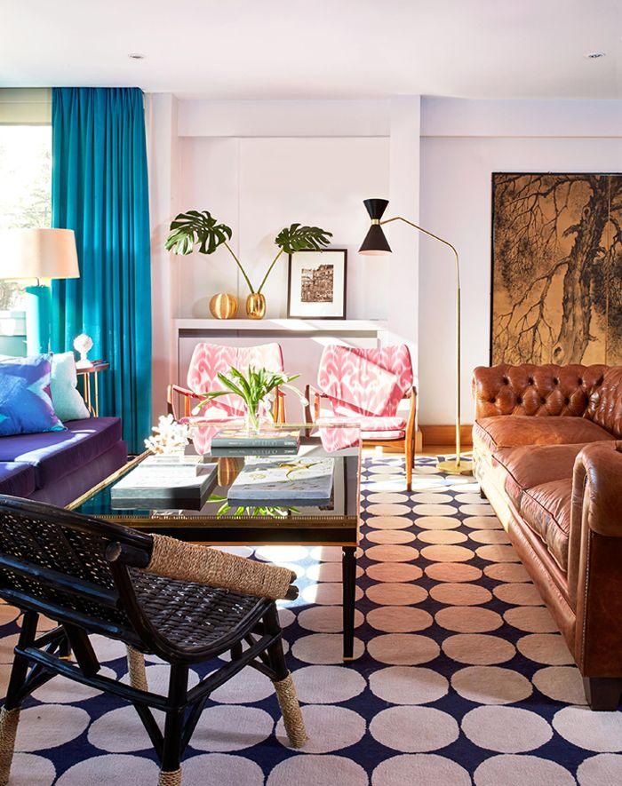 Melian Randolph salón 2 - Precioso piso con intensos toques de estilo y color en Chamartín, Madrid