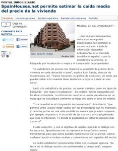 Nota en Portaltic.com 27 junio1 234x300 - Respuesta a Oramas Gestora sobre el nuevo portal inmobiliario SpainHouses.net