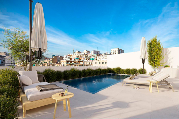 Piso de lujo en Barcelona con piscina y jardin privado - Piso de lujo en Barcelona con piscina y jardín privado