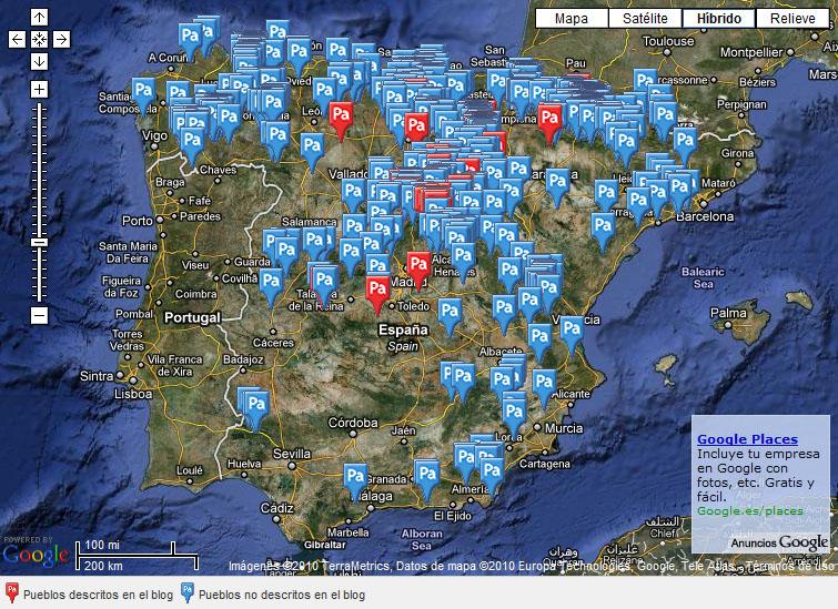 Mapa de pueblos abandonados de España