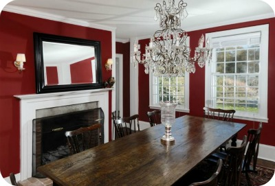 Renee Zellwegers Connecticut house dining room - Renèe Zellweger vende su casa