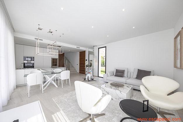 SALON COCINA CASA PISCINA ALICANTE - Descubre esta espectacular casa con piscina en Alicante