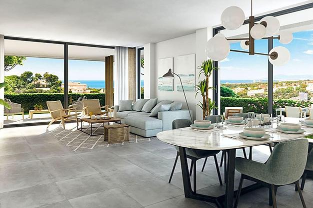 SALON COMEDOR MARBELLA - Este apartamento de lujo en Marbella es una oportunidad única que no puedes perder