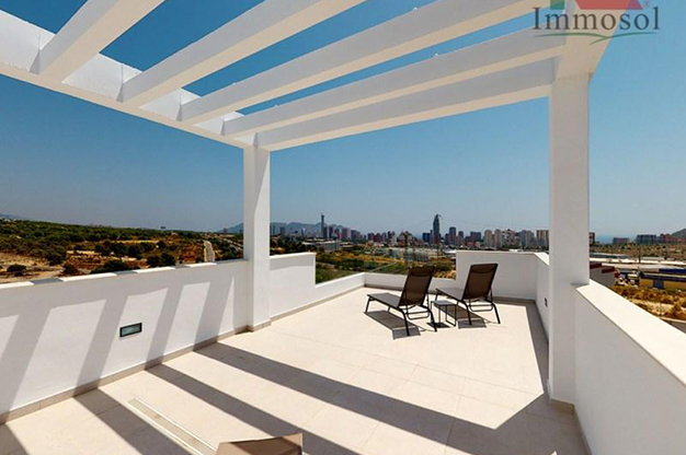 SOLARIUM BENIDORM - La casa perfecta es esta villa de lujo en Benidorm con piscina, jardín, solarium y mucho más
