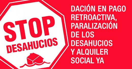 STOP desahucios - El nuevo Plan ayudará a la lucha contra desahucios y al fomento del alquiler