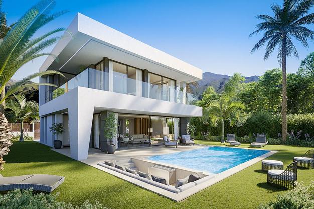 Villa de lujo en Malaga diseno moderno con vistas al Mar Mediterraneo - Villa de lujo en Málaga: diseño moderno con vistas al Mar Mediterráneo