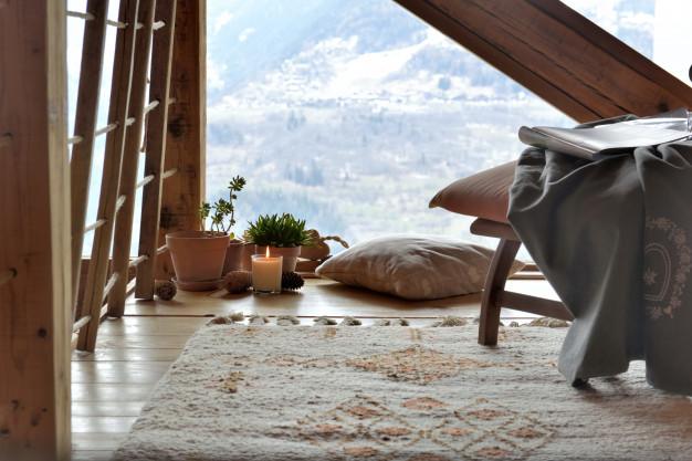 acogedora sala descanso cabana montana 100787 61 - Alfombras: Cómo elegirlas y cómo colocarlas