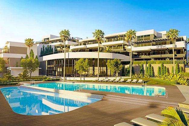 apartamento estepona - Apartamento de lujo en Estepona con jardín privado y vistas al mar: todo en uno