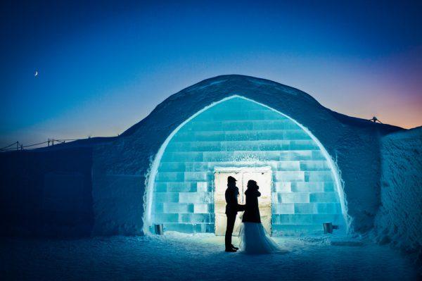 arctic winter wedding icehotel 1140x759 600x399 - Los mejores hoteles para los verdaderos amantes del invierno