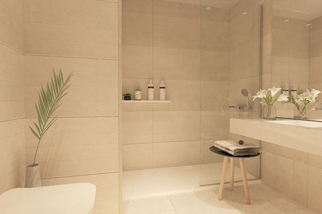 baño 1 1 - Moderno apartamento en Málaga, primera línea de playa