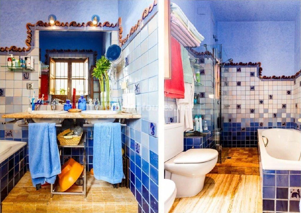 baño 36 1024x724 - Color tierras florentinas y sabor urbano en una casa en el Casco Antiguo de Sevilla