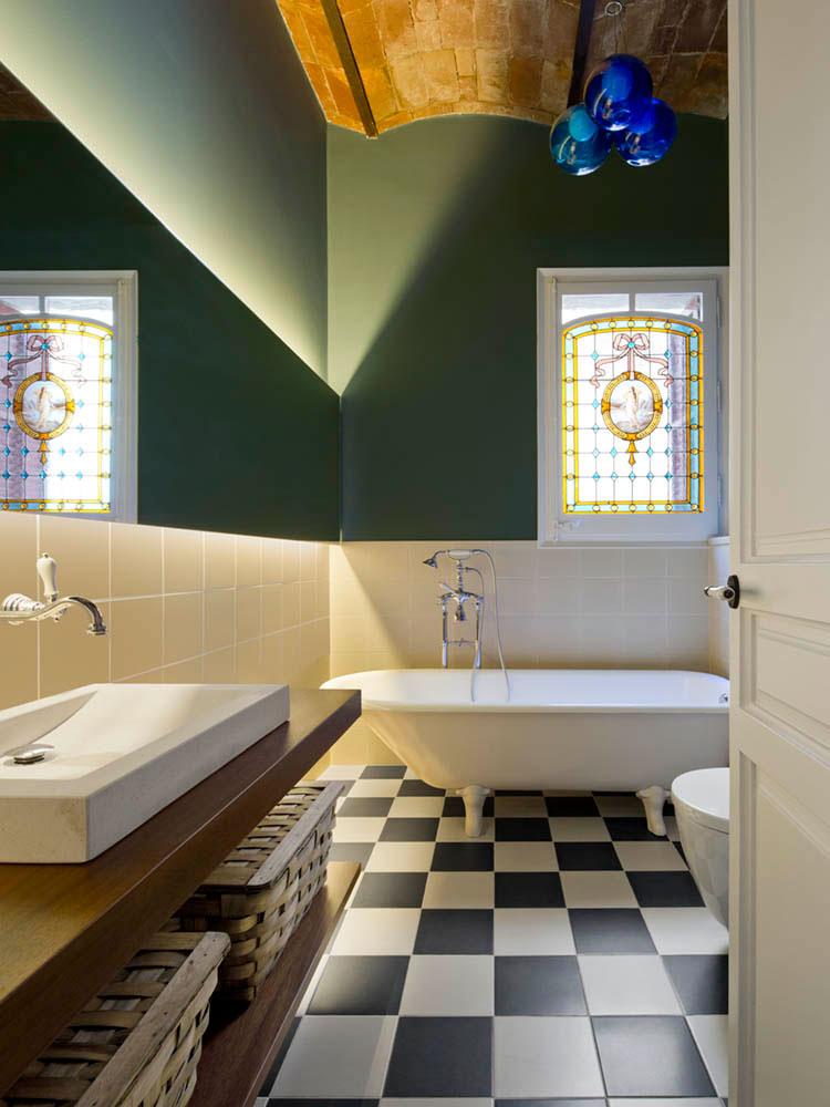"""baño 59 - Toque """"Art Novou"""" con jardín en una elegante casa modernista en Barcelona"""
