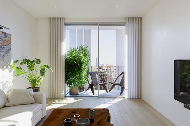 balcon piso lujo barcelona - Este apartamento de lujo en Barcelona lo tiene todo: amplitud, ambientes modernos y terraza privada