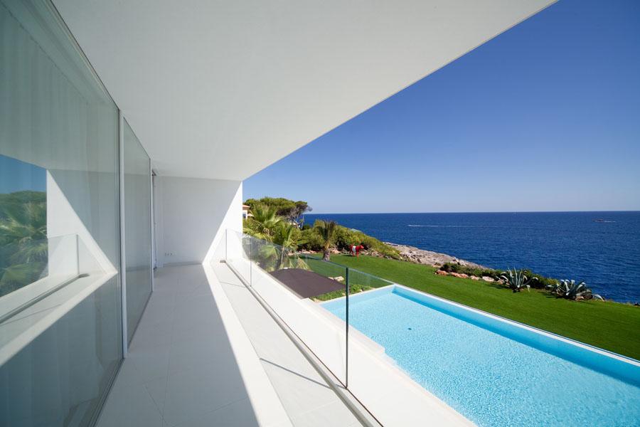 balconpiscinaymar - Espectacular y luminosa casa de diseño frente al mar en Cala d'Or, Santanyí (Mallorca)