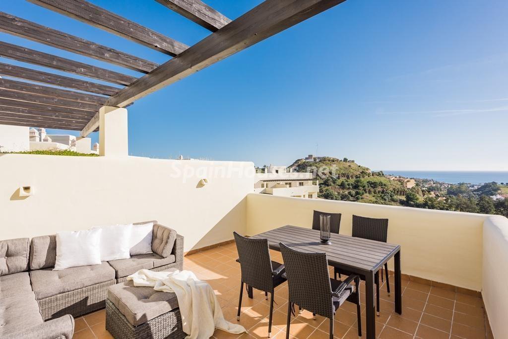 Vistas desde una vivienda en Benalmádena Costa (Costa del Sol, Málaga)