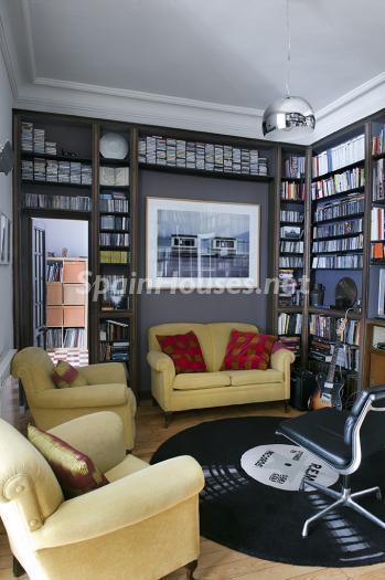 biblioteca - Precioso piso lleno de amplitud y estilo en el centro de Madrid